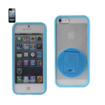 Reiko - TPU/PC Protetor Cover 360 Degree Rotating Kickstand for Apple iPhone 5 - Blue