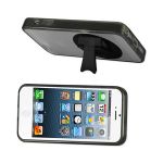 Reiko - TPU/PC Protector Cover 360 Degree Rotating Kickstand for Apple iphone 5 - Clear/Black
