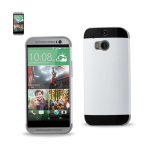 Reiko - TPU/PC Protector Cover for HTC ONE M8 - Gray/White
