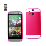 Reiko - TPU/PC Protector Cover for HTC ONE M8  - Purple/Hot Pink