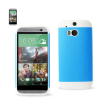 Reiko - TPU/PC Protector Cover for HTC ONE M8 - White/Blue