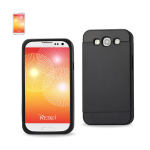 Reiko - TPU/PC PRotector Cover with interior card holder for Samsung Galaxy S3 - Black