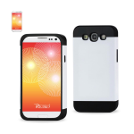Reiko - TPU/PC Protector Cover with Interior Card Holder for Samsung Galaxy S3 - Black/White