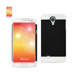 Reiko - TPU/PC Protector Cover with Interior Card Holder for Samsung Galaxy S4 - Black/White