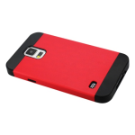 Reiko - TPU/PC PRotector Cover for Samsung Galaxy S5 - Black/Red