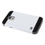 Reiko - TPU/PC Protector Cover for Samsung Galaxy S5 - Gray/White
