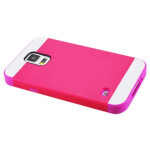 Reiko - TPU/PC Protector Cover for Samsung Galaxy S5 - Purple/Hot Pink