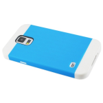 Reiko - TPU Plus PC Protector Cover for Samsung Galaxy S5 - White/Blue