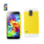 Reiko - TPU/PC Protector Cover for Samsung Galaxy S5 - White/Yellow