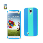 Reiko - TPU/PC Colorful Protector Cover for Samsung Galaxy S4 - Blue/Navy