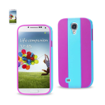 Reiko - TPU/PC Colorful Protector Cover for Samsung Galaxy S4 - Blue/Purple