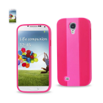 Reiko - TPU/PC Colorful Protector Cover for Samdung Galaxy S4 - Pink/Hot Pink