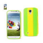Reiko - TPU/Pc Colorful Protector Cover for Samsung Galaxy S4 - Yellow/Green