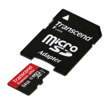 Transcend 64GB MicroSDXC Memory Card Premium 400x Class 10 UHS-I with MicroSD Adapter