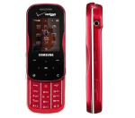 Samsung Trance SCH-U490 Cell Phone for Verizon (Bluetooth/GPS/Camera) - U490-Red-Verizon-B Stock