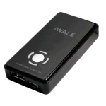 iWALK 1,800mAh Rechargeable Universal Backup Battery w/ LED Power Indication for Smartphones & Tablet (Black)- UBE1800