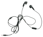 Universal 2.5mm Stereo Headset with Microphone (Black)