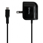 TEKYA 2.4 AMP USB-C AC TRAVEL CHARGER - 48 INCH CABLE - BLACK