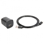 GRIFFIN POWERBLOCK 2.1 AMP AC TRAVEL CHARGER WITH MICRO CABLE -BLACK