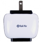 TEKYA DUAL USB 2 AMP AC TRAVEL CHARGER HEAD - LARGE PACKAGING