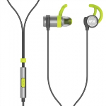 PUREGEAR PUREBOOM CORDED HANDSFREE EARBUDS WITHOUT POUCH - BLACK/GREEN