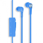 SCOSCHE BT100 HANDSFREE BLUETOOTH EARBUDS WITH MIC+CONTROLS - BLUE