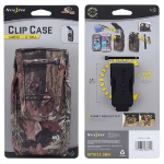NITE IZE NYLON VERTICAL EXTRA TALL CLIP CASE CARGO POUCH WITH CLOSURE - MOSSY OAK