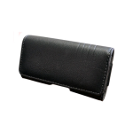 OEM Verizon Universal Leather Horizontal Pouch with Belt Clip UNISDPCH1 (Black) (Bulk Packaging)