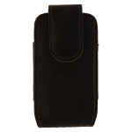 Verizon Leather Standing Pouch for Convoy 4, Exalt II, DuraXV Plus, and etc - Black