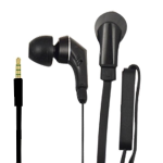 BLACK FLAT CABLE HEADSET