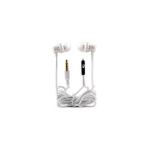 Technocel Stereo Headset Earbuds with 3.5mm Gold Plated Connector (White)