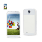 Reiko - Aluminum and Silicone Case for Samsung Galaxy S4 - White