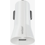 Verizon Car Charger with USB-C Port for Android Devices (White)