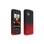 Verizon Snap-On Case for HTC DROID Incredible 6300 - Red / Black Gradient