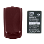 OEM PCD Escapade WP8990 Extended Battery & Door Combo BTE8990 (Dark Cherry Red)