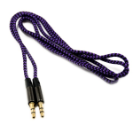 3ft Audio Cord Auxiliary Cable - 3.5mm Male to Male - PURPLE