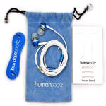 Human Toolz Sound Budz XS In-Ear Sound Isolating Headphones Bundle (Blue)