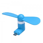 Xfactor -Micro USB | Portable Phone Fan Blue