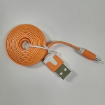 Xfactor-Micro USB Sync and Charge Cable, Flat Silicone Cable - Orange