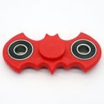 Metal Frame | Fidget Hand Spinner Batman Design - Stress Relief / Focus Novelty Item | Color: Red