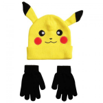 Pikachu Beanie With Black Mittens
