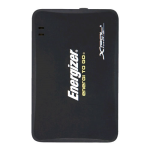 Energizer 1000 mAh Portable Charger with 30-Pin Cable for Apple, Mini USB and Micro USB (Black) - XP1000-Z