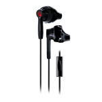Yurbuds Inspire 300 In-Ear Earphones, Noise-Canceling, Sweat resistant - Black