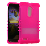 Rocker Silicone Case for ZTE Carry Z981-Fluorescent Magenta