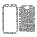 Rocker Series Snap-On Protector Case for ZTE Z813 (Trans. Design/Grey Circular Patterns)