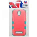 ZTE Z820 OBSIDIAN MYBAT NATURAL BABY RED/TROPICAL TEAL TUFF HYBRID CASE