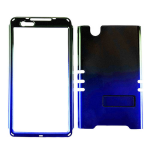 Rocker Series Snap-On Protector Case for ZTE Zmax (Two Tones/Black and Blue)