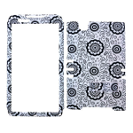 Rocker Series Snap-On Protector Case for ZTE Zmax (Simple Black Flower Pattern on White)
