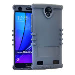 Rocker Series Silicone Skin Protector Case for ZTE Max 2 (Gray)