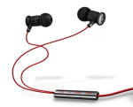 Beats by Dre Earbuds / Headphones with Mic and Playback Controls (Black / Red)